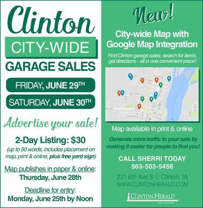 clinton herald classifieds garage sales