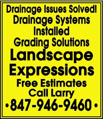 Daily herald classifieds service directory drainage issues solved drainage systems installed grading solutions landscape expressions free estimates call larry 847 946 9460 posted 06232018 fandeluxe Image collections