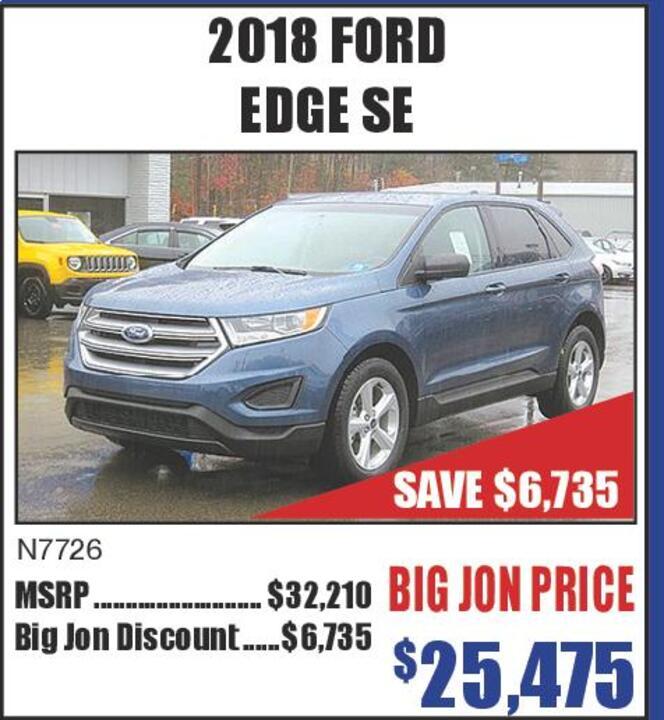Ford Edge Se Save  N Big Jon Discount  Big Jon Price  Great American Sales Event Ford