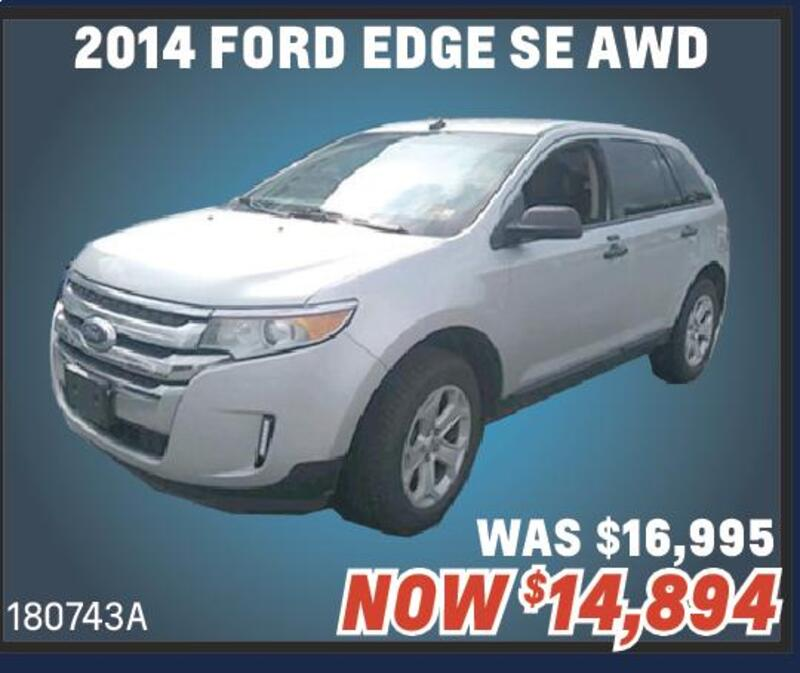 Cool Summer Deals On Quality Preowned Vehicles  Ford Edge Se Awd Was  A Now  Crossroads Chevrolet Beat The Heat