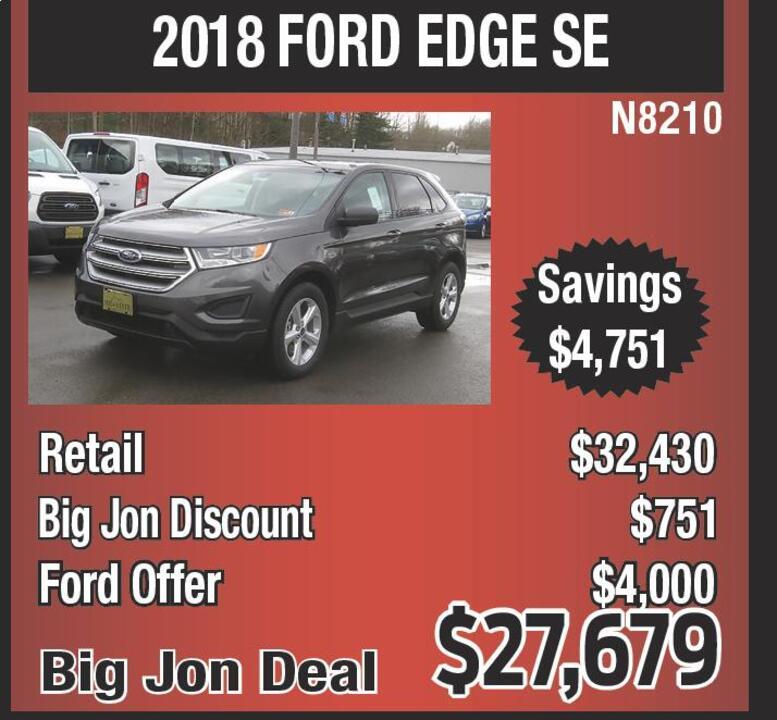 Black Friday Suvs No Deal Like A Big Jon Black Friday Deal  Ford Edge Se N Retail  Big Jon Discount  Ford Offer  Big