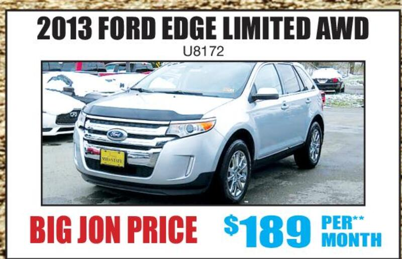 Paments For Every Budget  Ford Edge Limited Awd U Big Jon Price  Per Month Big Jons Summer Kick Off Sell Mid State Ford