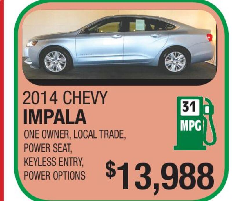 2014 CHEVY IMPALA ONE OWNER, LOCAL TRADE, POWER SEAT, KEYLESS ENTRY, POWER  OPTIONS 31 MPG $13,988. VIEW OUR ENTIRE INVENTORY AT WWW.NASSIEF.COM Ford  TOYOTA