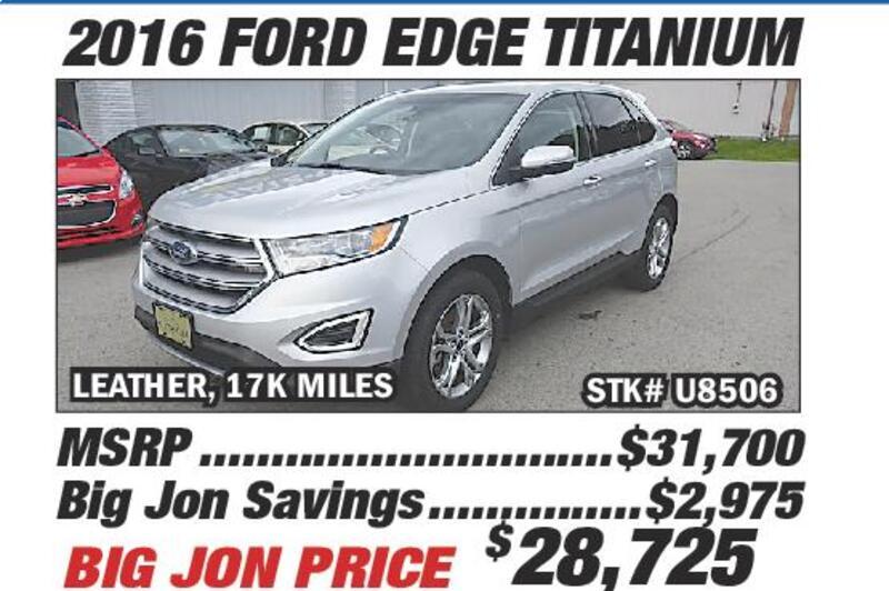 Drive To The Ville For A Big Jon Deal  Ford Edge Titanium Leather K Miles Stk U Big Jon Savings  Big Jon Price