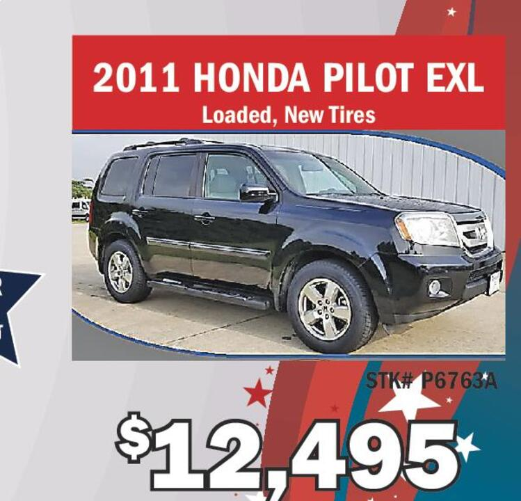 2011 HONDA PILOT EXL Loaded New Tires STK P6763A 12495 Chatsworth Ford Labor Day Savings American Made Quality Your Hard Earned Dollars Go Further