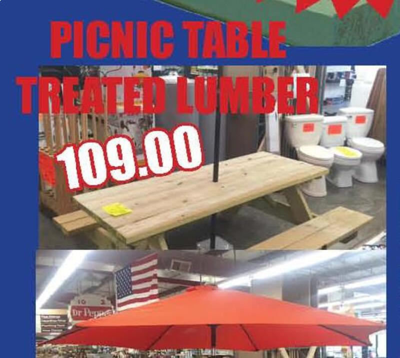 The Register Herald Classifieds Merchandise PICNIC TABLE - Treated lumber picnic table