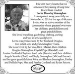 Lorna Dorothy  STRANAGHAN