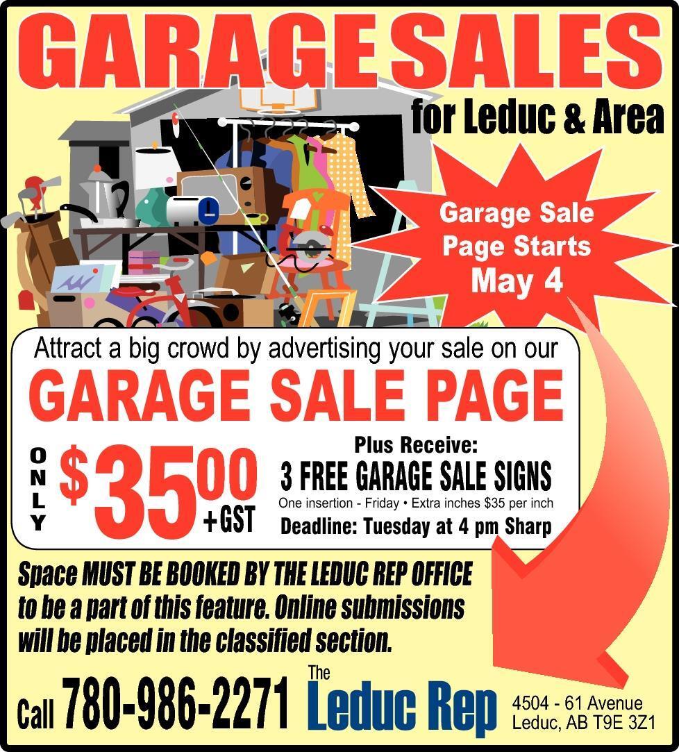 leduc rep leduc ab classifieds announcements garagesales