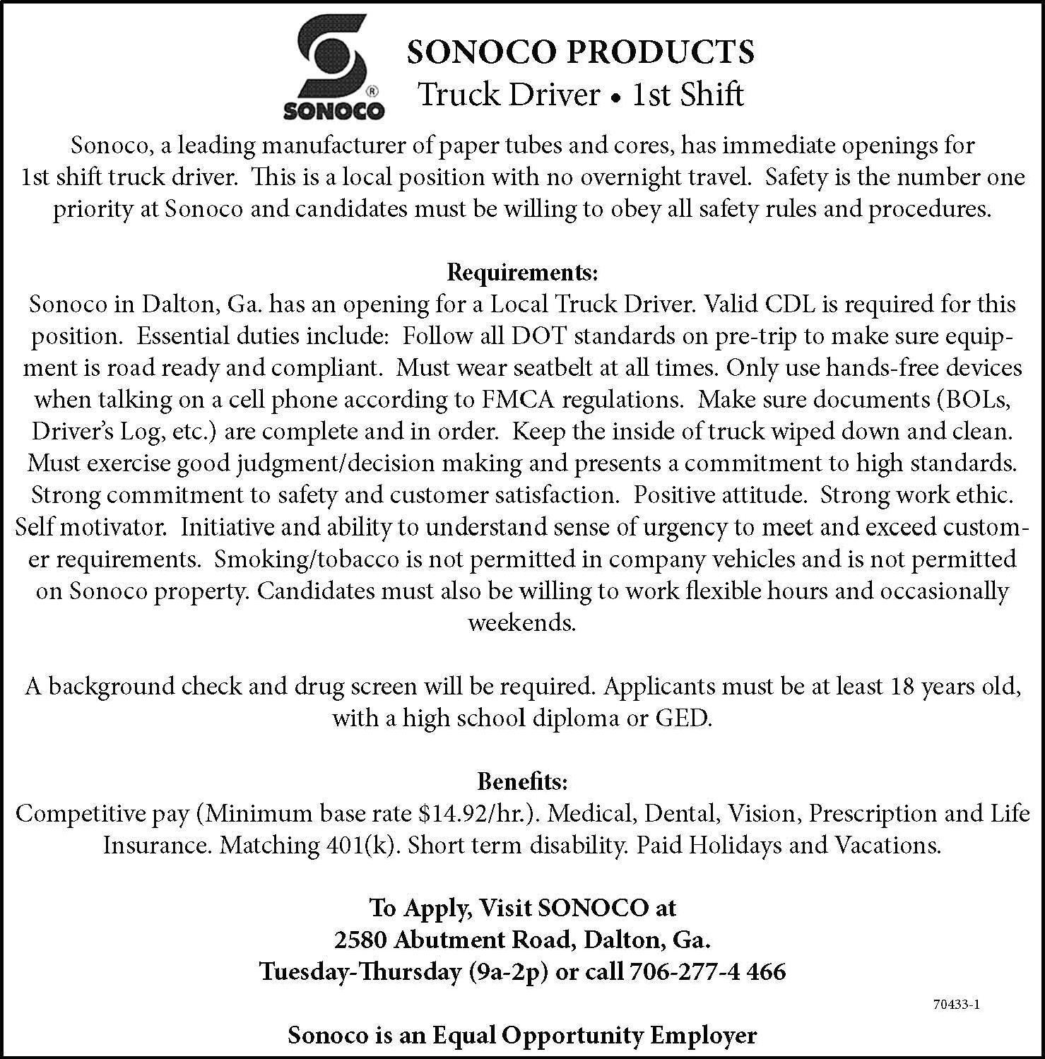 The Daily Citizen Newspaper Ads Classifieds Employment Truck