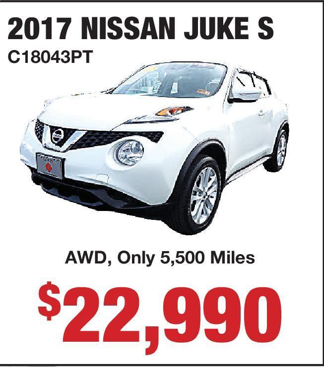 2017 NISSAN JUKE S Lewis Nissan