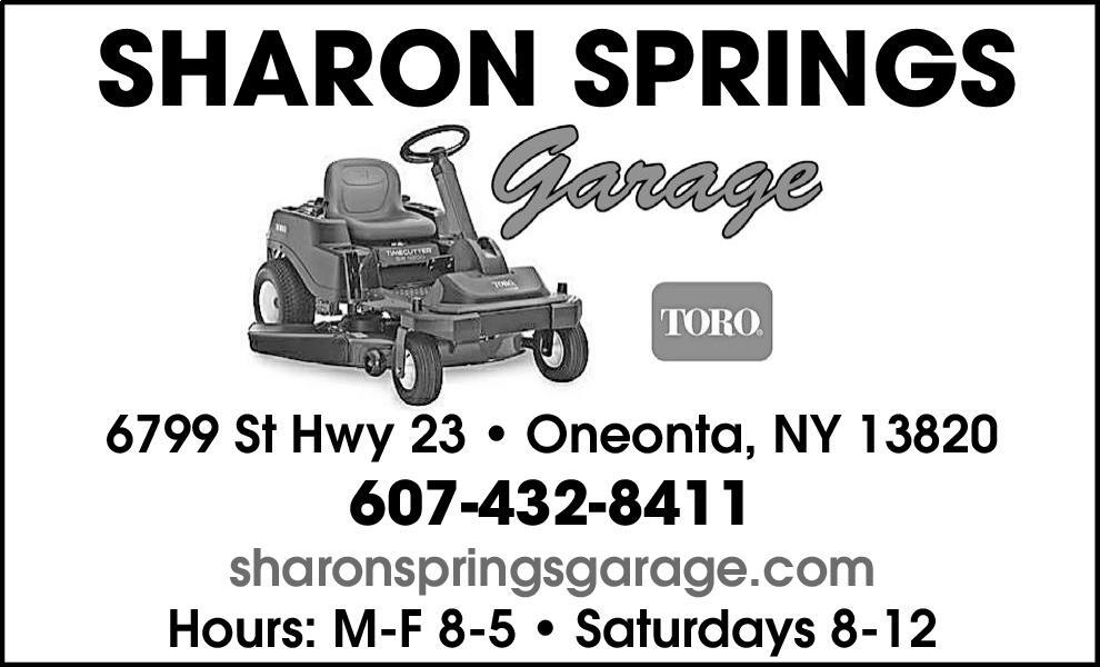 Awesome SHARON SPRINGS Garage