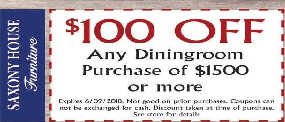 The Sharon Herald | Newspaper Ads | Classifieds | Shopping | $100 OFF Any  Diningroom Purchase Of