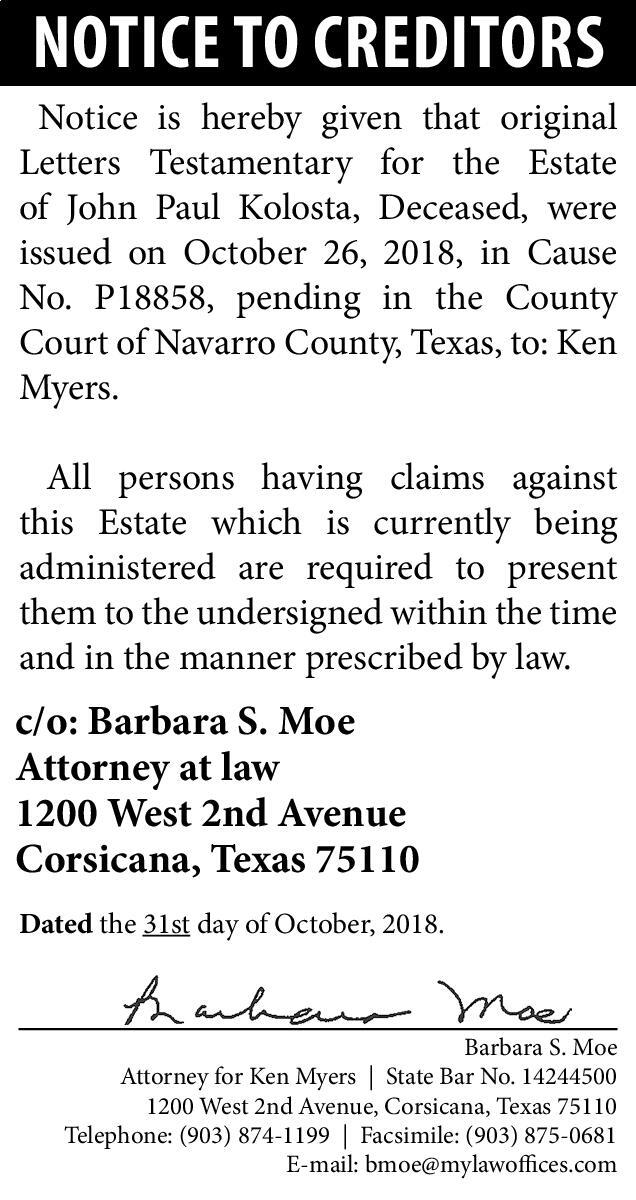 court of navarro county texas