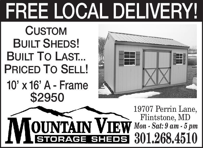 Cumberland Times News | Newspaper Ads | Classifieds | Home Improvement | CUSTOM  BUILT SHEDS! BUILT TO LASTu2026 PRICED TO SELL!