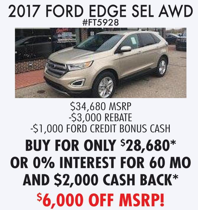 Ford Edge Sel Awd Greg Sweet Ford Lincoln