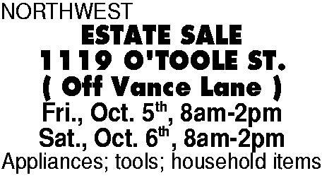The Commercial News Marketplace Northwest Estate Sale 1119 Ot
