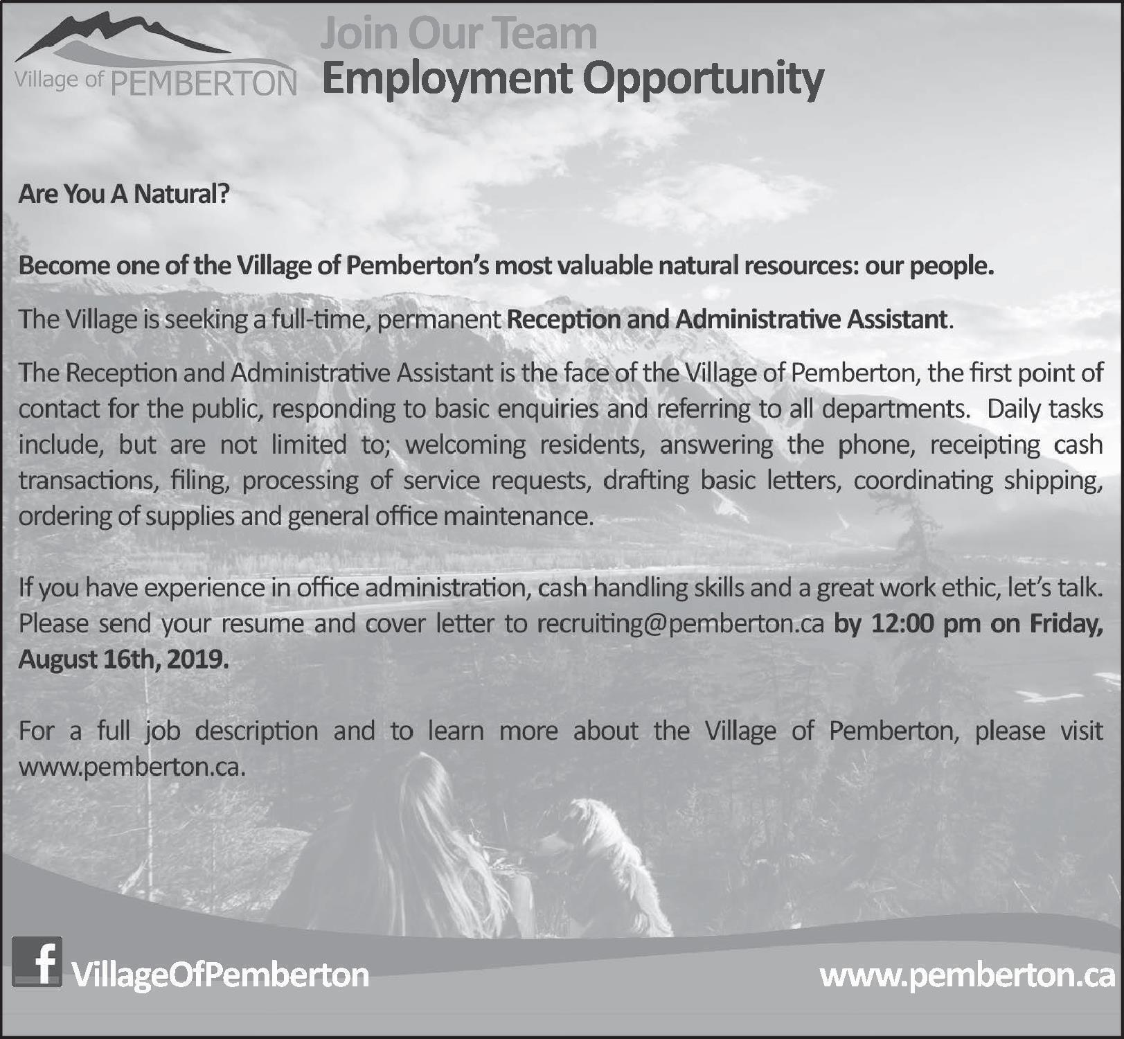 JobFind | Classifieds | Career Opportunities | Administrative Assistant