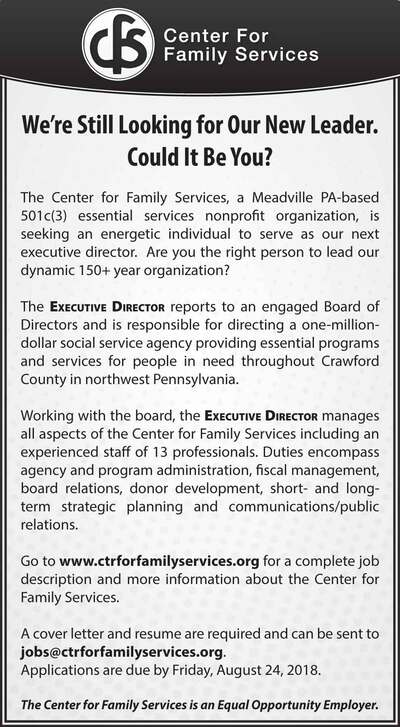 The Meadville Tribune | Classifieds | Employment | SUPERVISOR