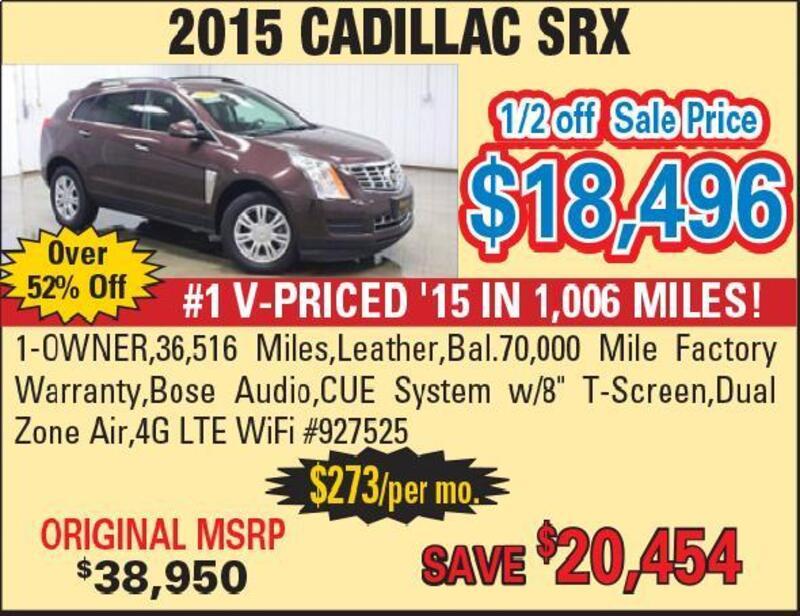 Clinton Herald   Classifieds   Transportation   CADILLAC SRX
