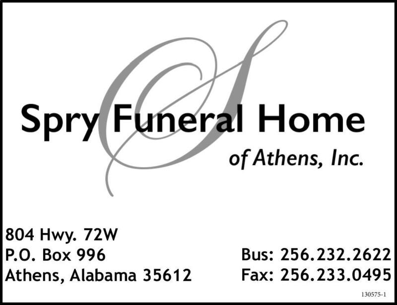 The News Courier Classifieds General Services Spry Funeral