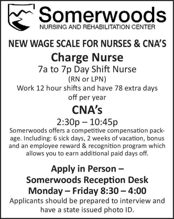 record eagle classifieds employment charge nurse