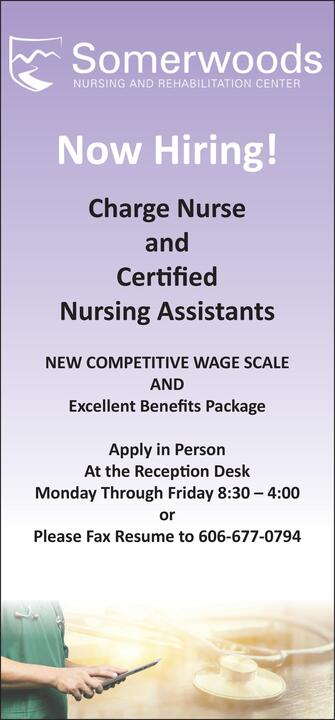 commonwealth journal classifieds employment charge nurse