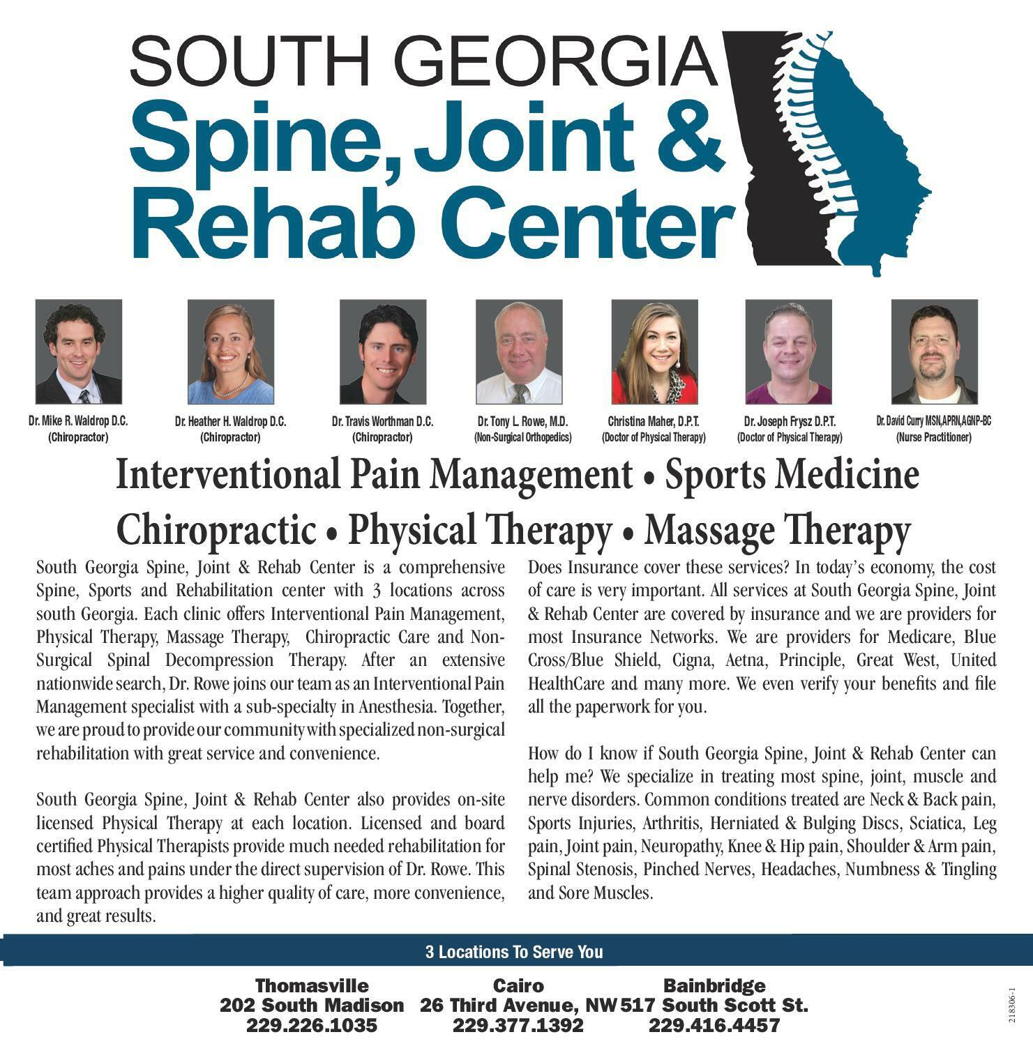 SOUTH GEORGIA Spine, Joint & Rehab Center