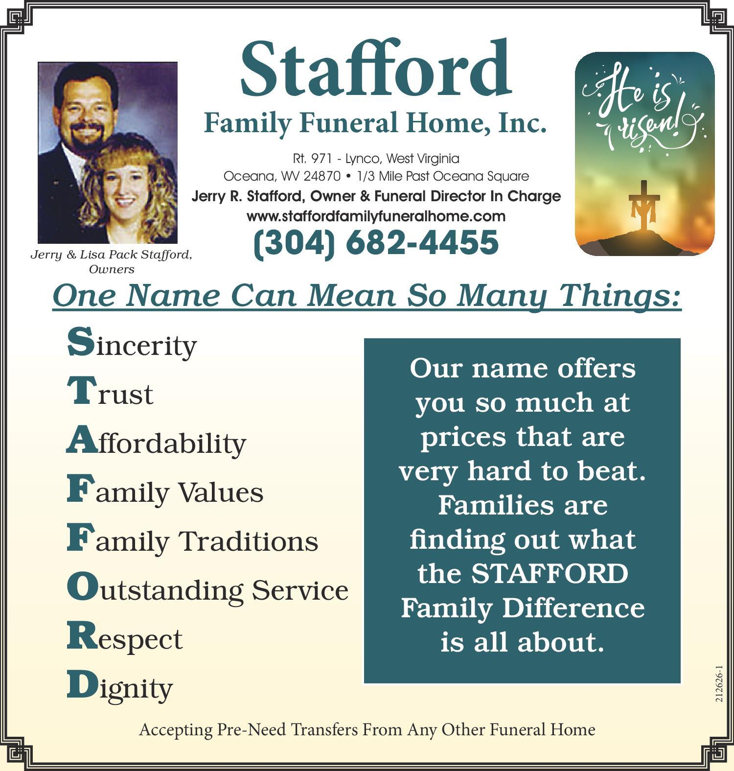Stafford Family Funeral Home Inc