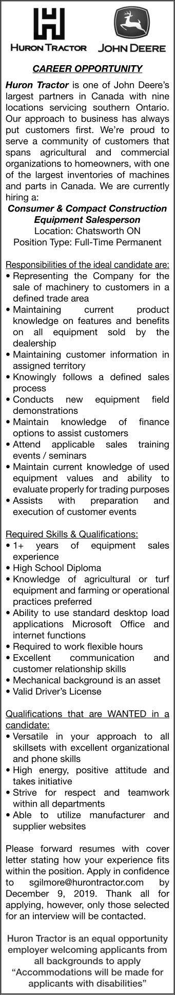 Owen Sound Sun Times | Classifieds | Employment & Education ...
